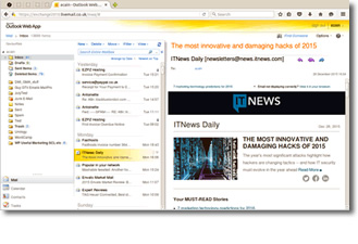 Image of Webmail interface